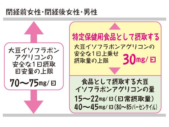 イソフラボンの摂取量の目安