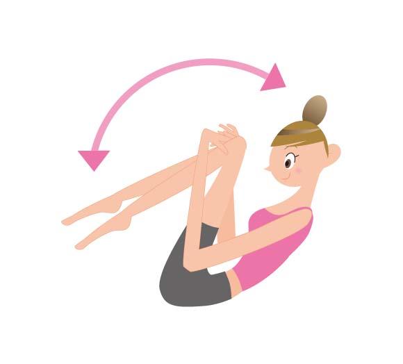 体を丸めて揺れるだけの簡単な運動