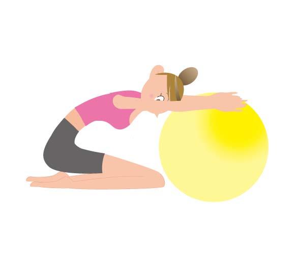 バランスボールを使った運動