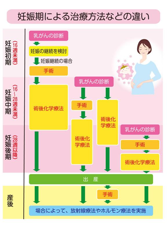 妊娠期による治療法などの違い